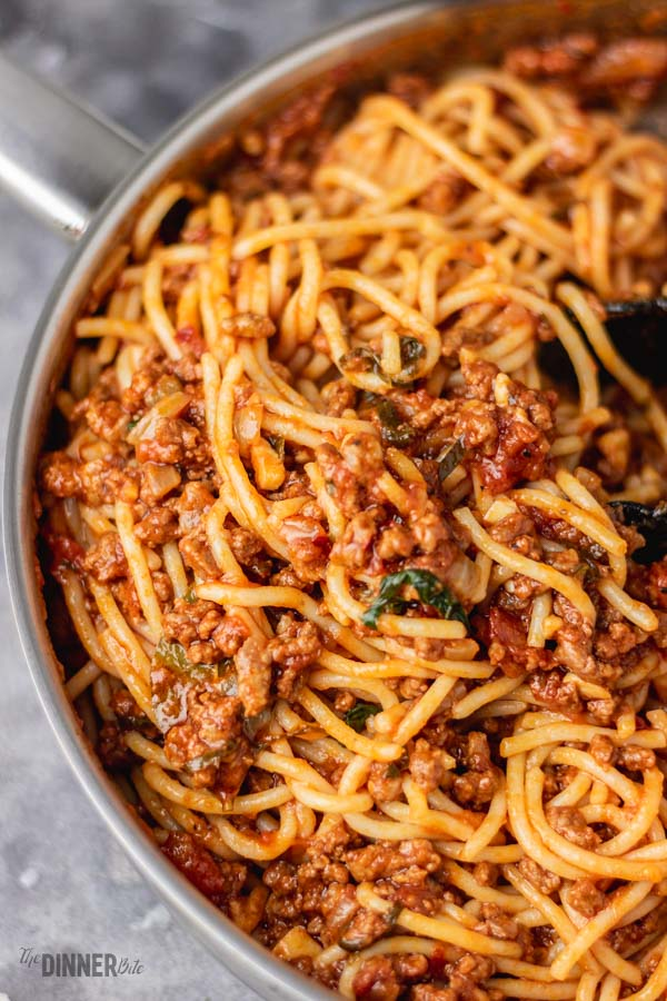 Quick Spaghetti Bolognese The Dinner Bite