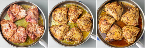 step by step pictorial guide how to make stove top chicken thighs