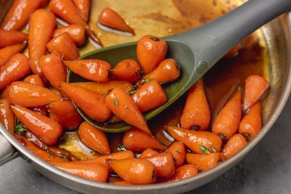 brown sugar glazed carrots.