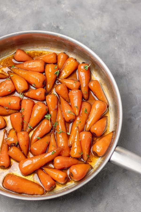 stove top brown sugar glazed carrots.