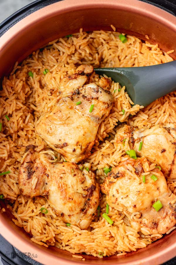 pressure cooker rice and chicken.