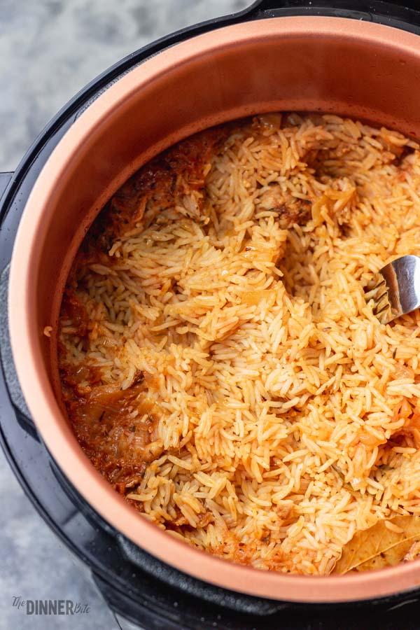 pressure cooker rice.