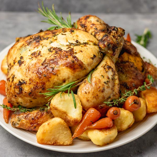 Simple Whole Roast Chicken Recipe The Dinner Bite
