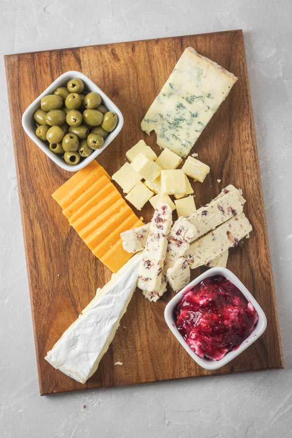 Cheese platter and olives