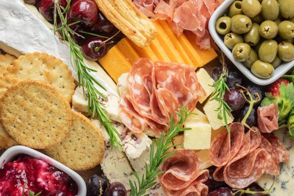cheese platter for entertaining.