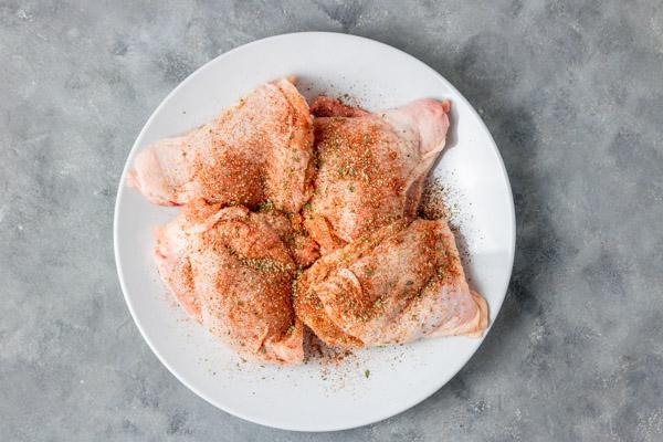 seasoned chicken.