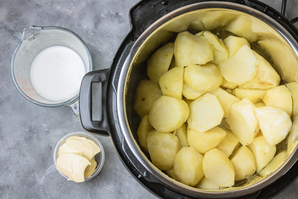 spud, milk and butter.