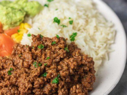 instant pot taco meat bowl