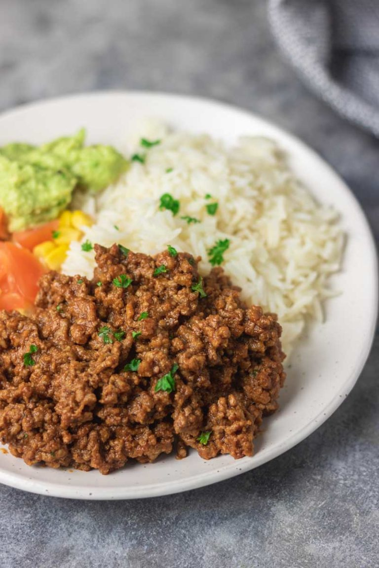 instant pot taco meat bowl
