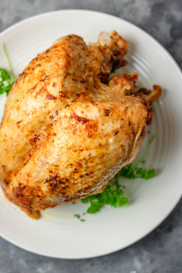 instant pot turkey breast on a plate.
