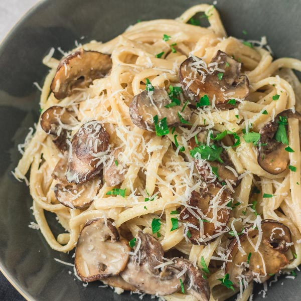 Creamy Mushroom Pasta Recipe The Dinner Bite