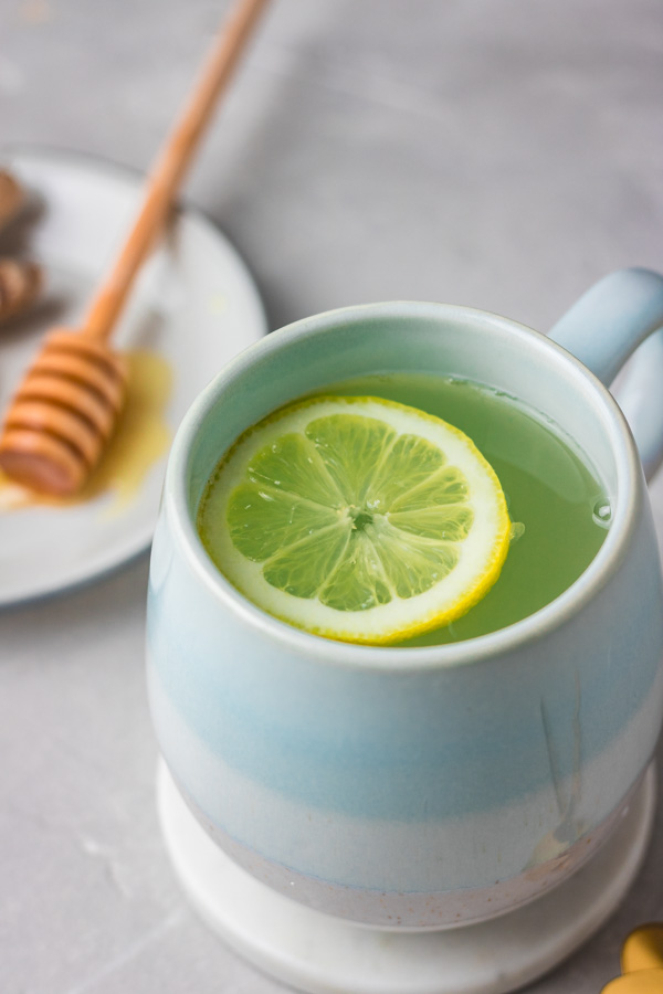 honey and lemon tea.