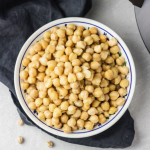 instant pot chickpeas (garbanzo beans).
