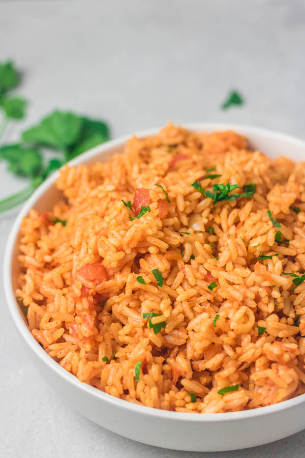 a plate of Arroz Rojo.