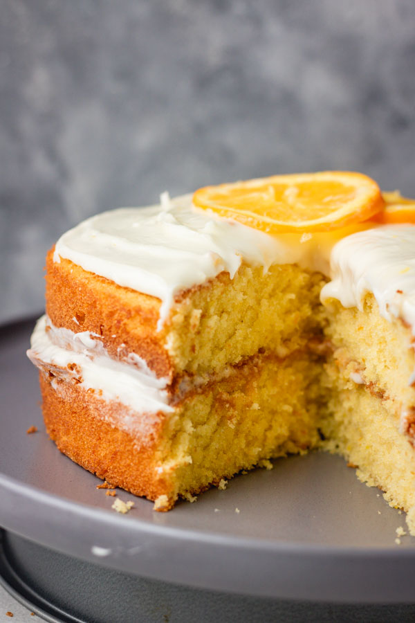 sandwiches orange cake.