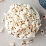 freshly popped instant pot popcorn.