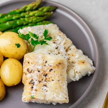 a plate of instant pot fish .