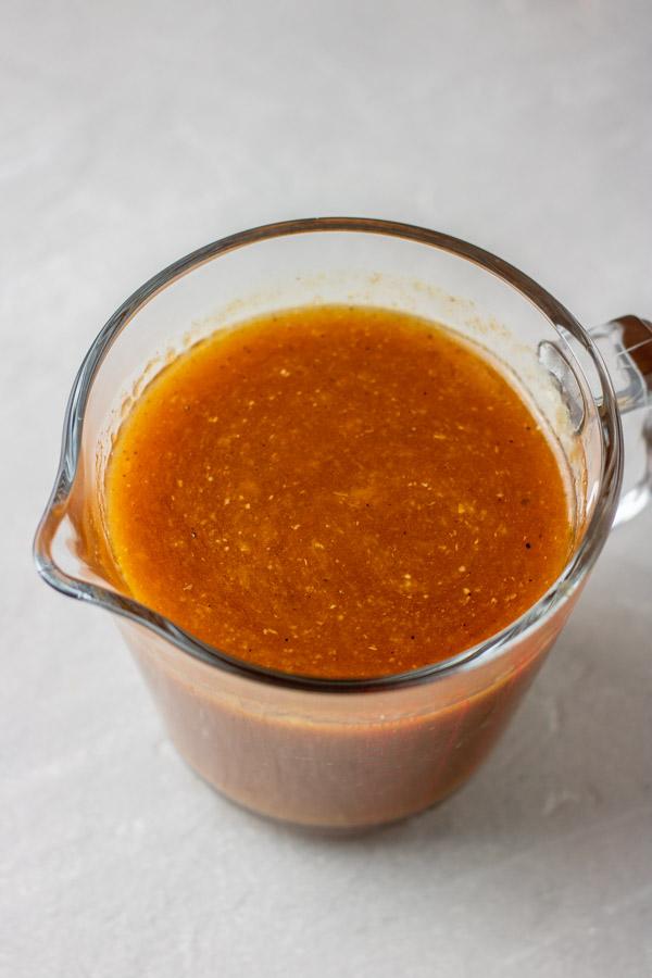 a jar of instant pot chicken gravy