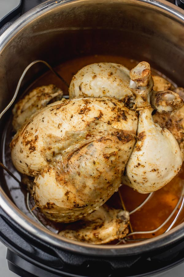 a whole chicken in an instant pot.
