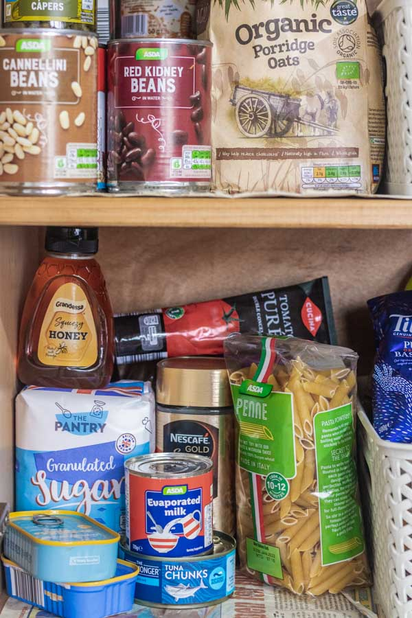 image of pantry essentials.