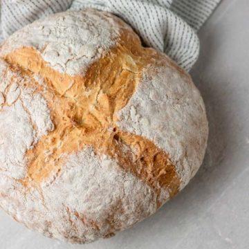 freshly baked irish soda bread.