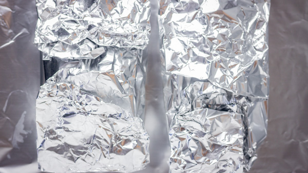 wrapped foil.