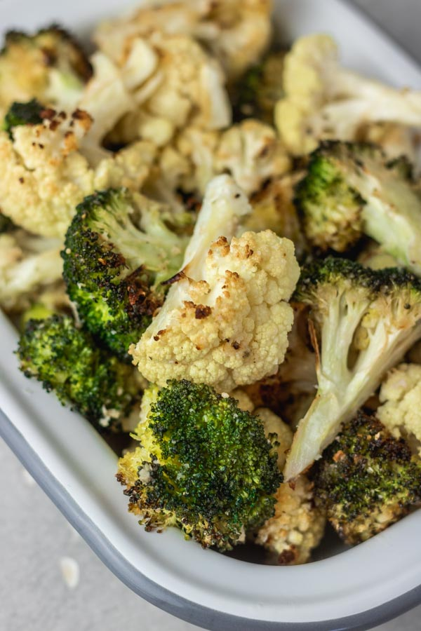 Roasted Broccoli And Cauliflower Recipe The Dinner Bite