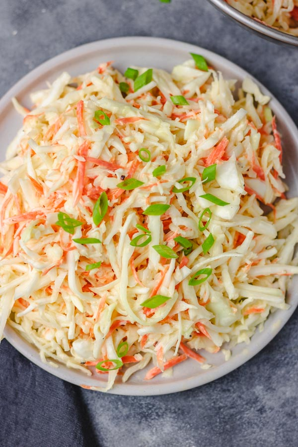 plate of coleslaw.