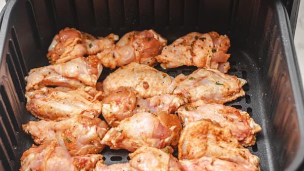 chicken wings in a basket.