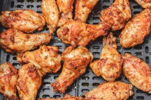 air fried chicken wings.