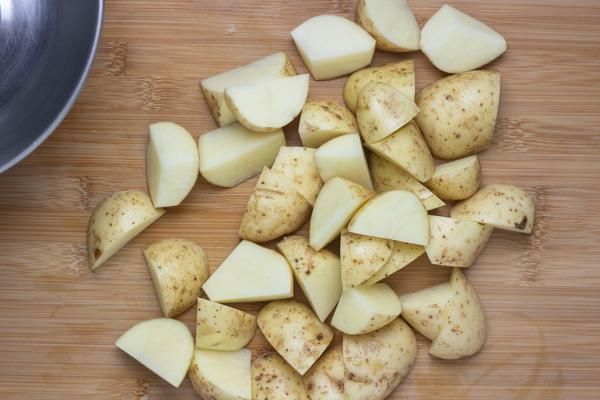 chopped poatatoes.