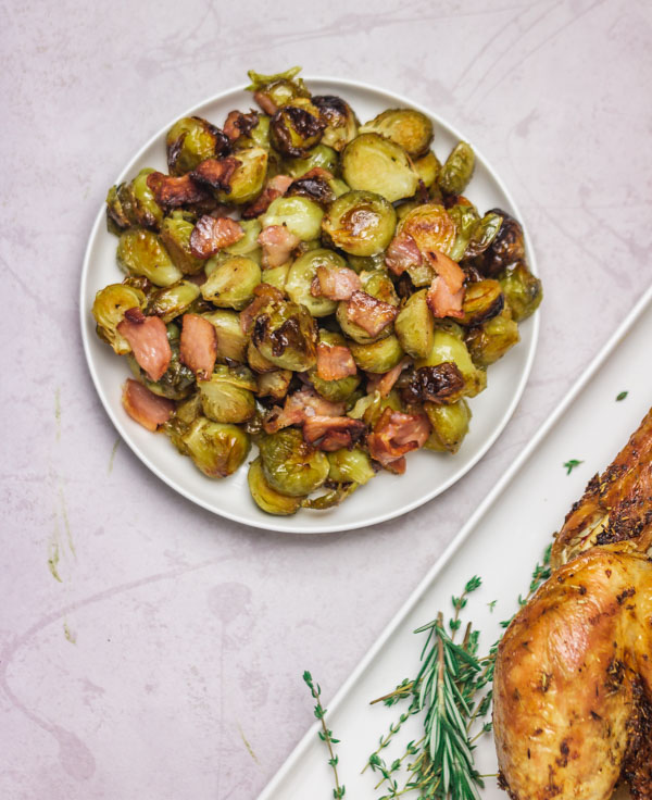 roasted turkey and a side dish.
