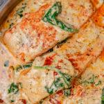 salmon in creamy sauce.