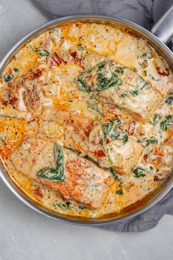 fish in creamy sauce.