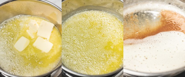 cooking process for browning butter.