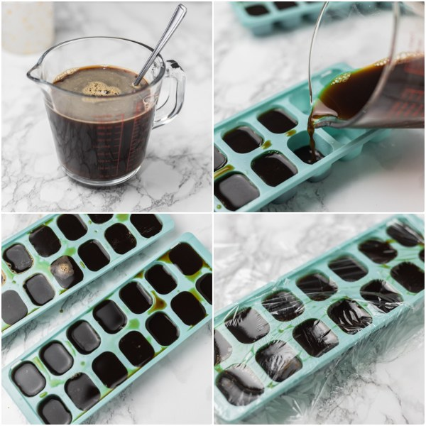 the process of making frozen coffee.