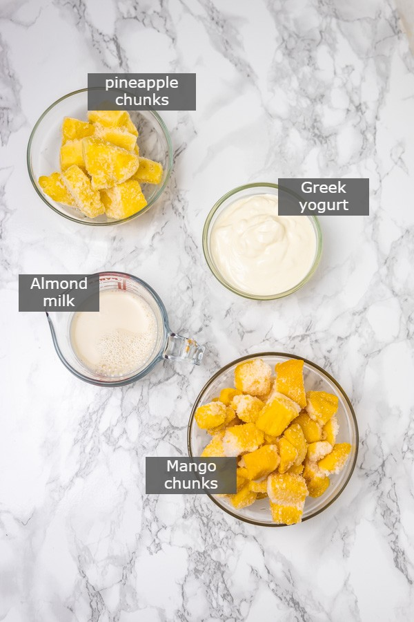 the ingredients needed to make smoothie.