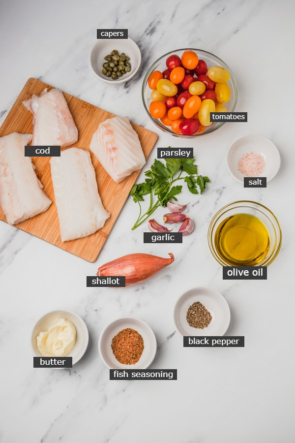 ingredients needed to bake fish.