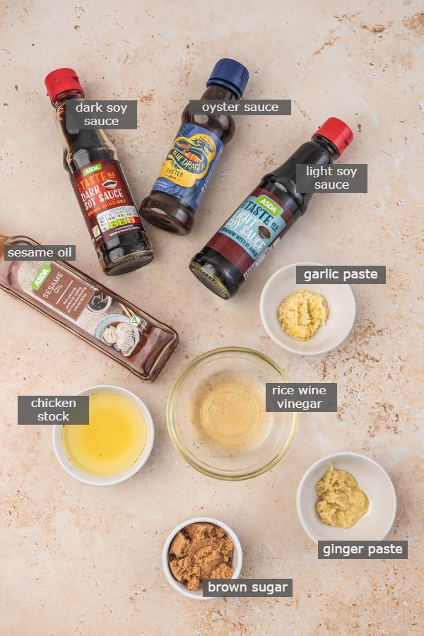 stir fry sauce ingredients.