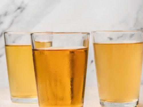 3 glasses of cold brew tea.