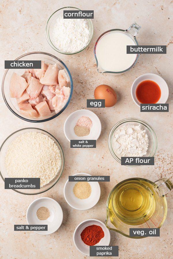 ingredients needed to make bang bang chicken.